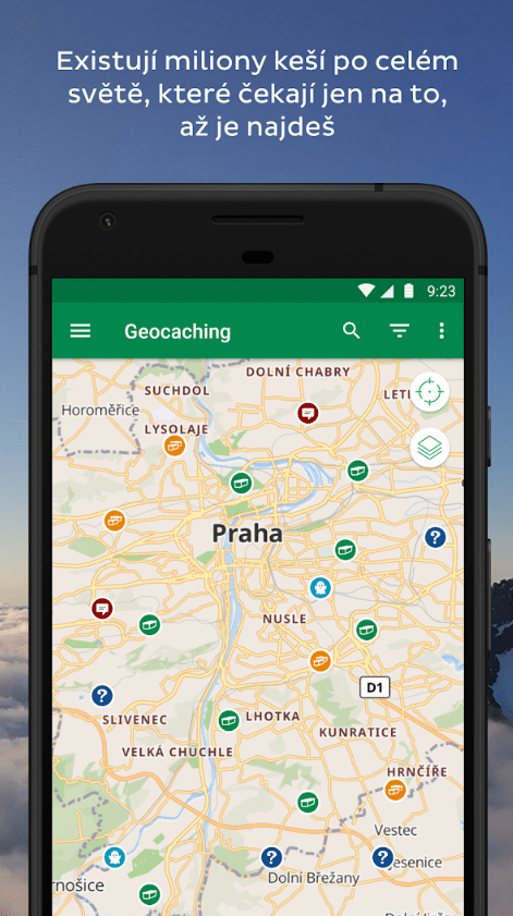 Oficiální aplikace pro Geocaching